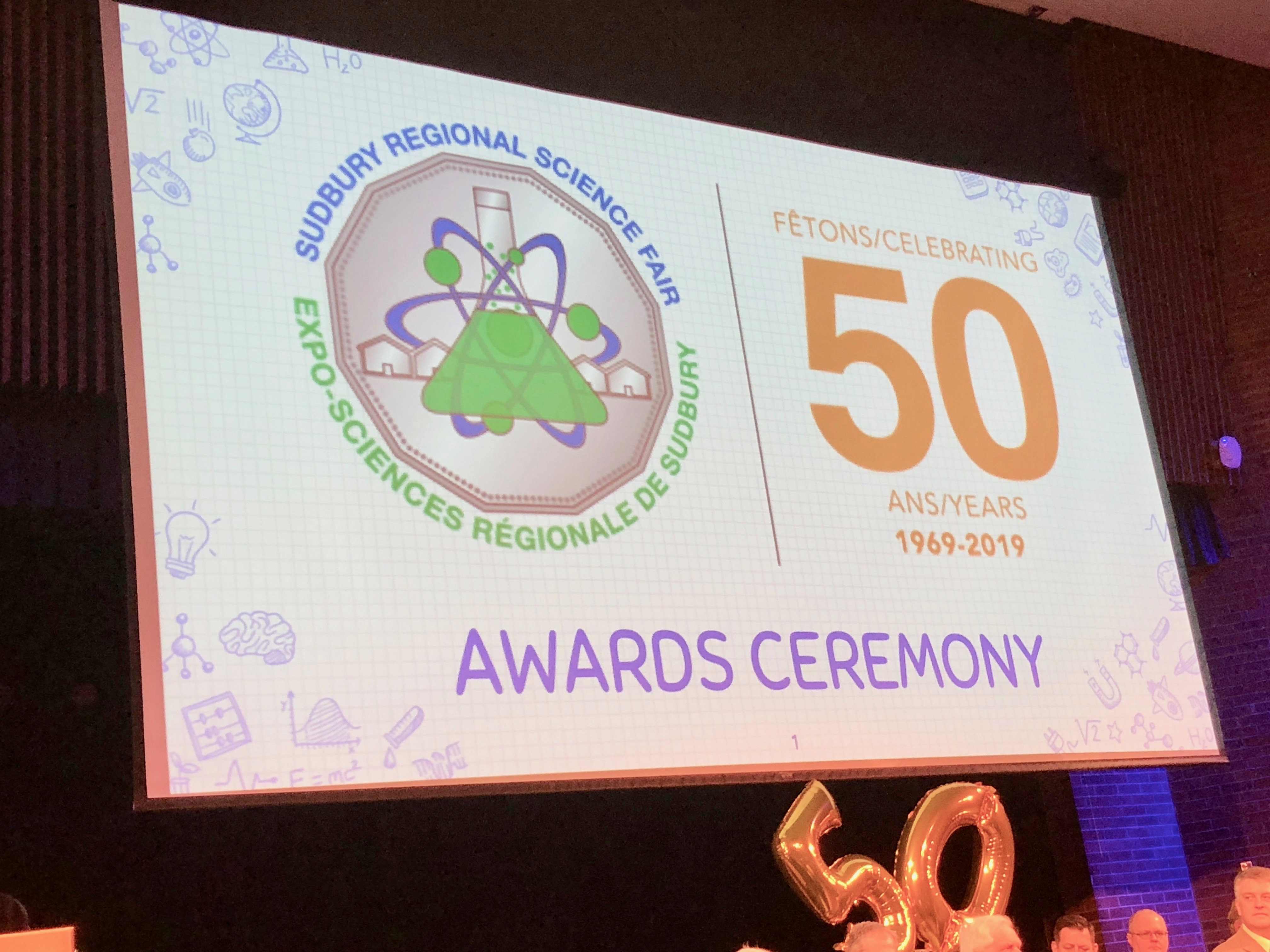 Science Fair 50th Anniversary Awards Banner