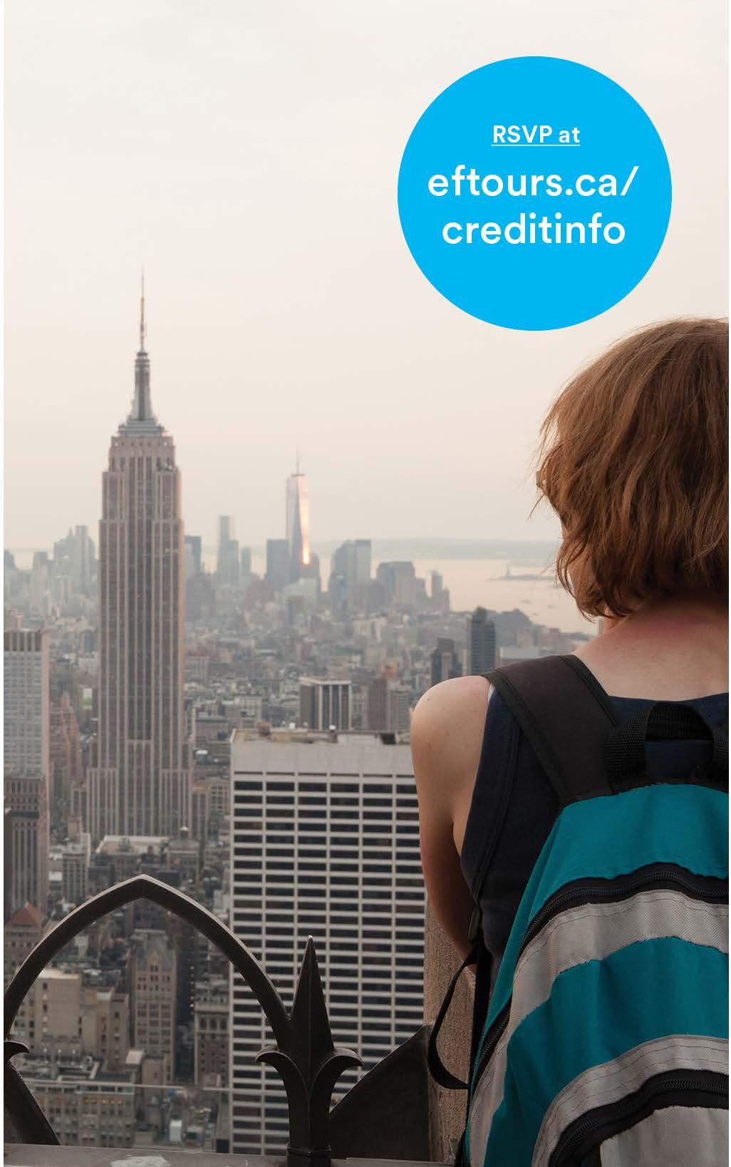 Girl overlooks New York City